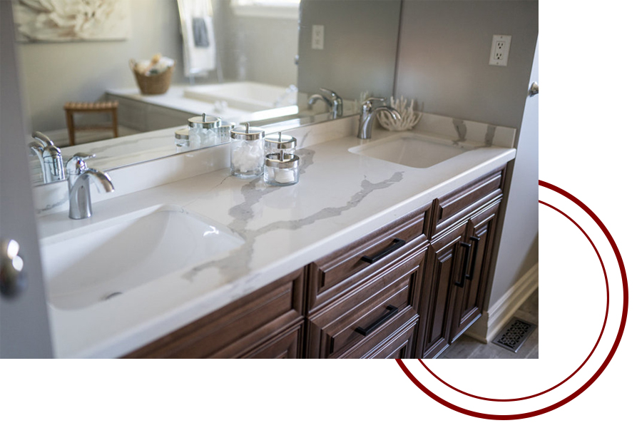Faucet and sink from Bathroom renovation