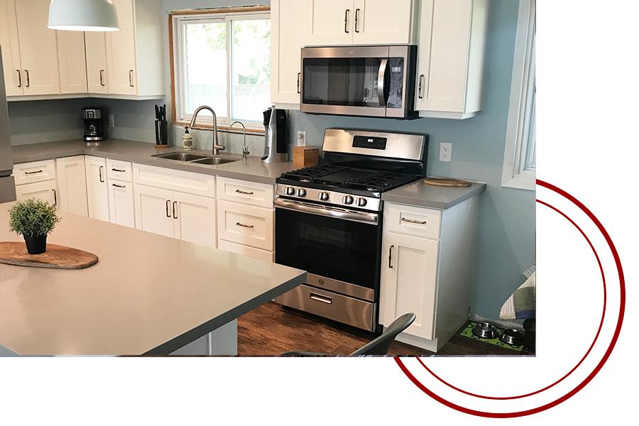 retro style kitchen reno