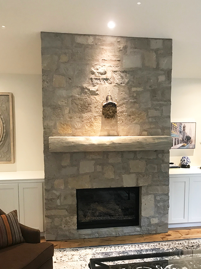 Custom fireplace renovation
