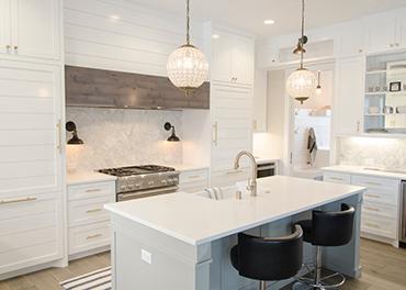 modern detailed kitchen built inside of a custom home