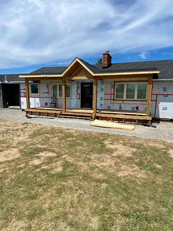 full front home addition
