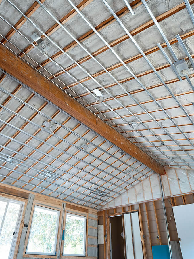 roof installation of custom home addition