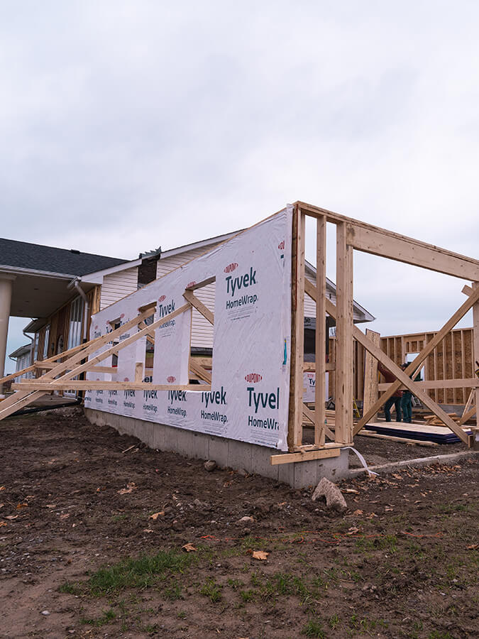 home addition being built in Niagara (1)